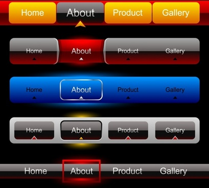 website buttons vector