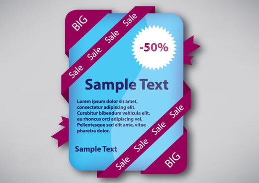 website ribbon sale sticker