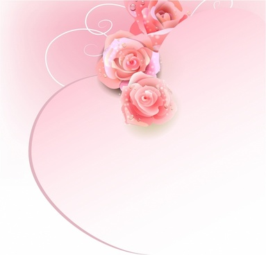 Wedding Background With Pink Roses