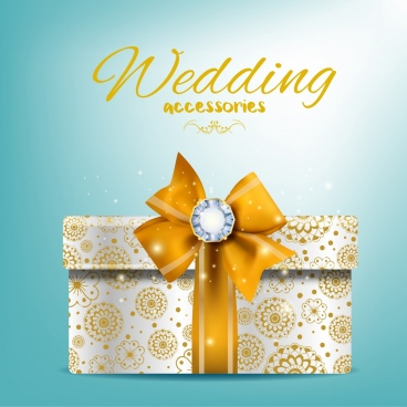 wedding banner present box icon shiny bright design
