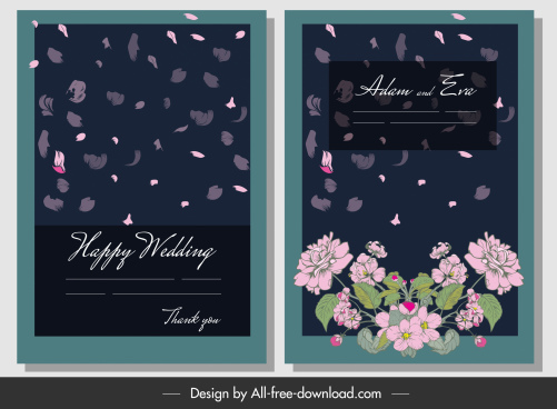 wedding banner template floral floating petals decor