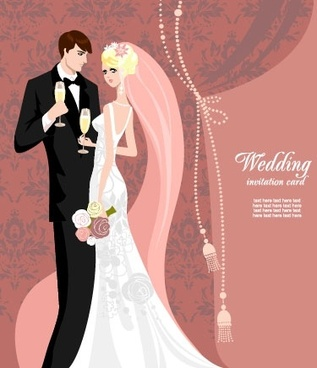 wedding card background 03 vector