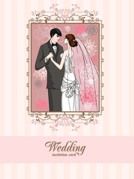 wedding card background 04 vector