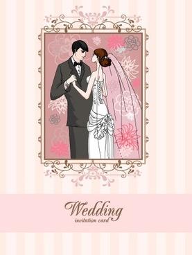 wedding card background 04 vector