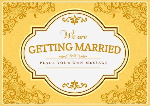 wedding card cover template golden floral background design