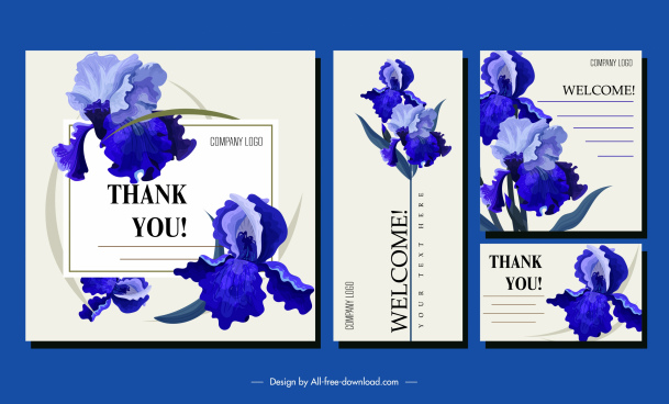 wedding card template elegant botanical decor