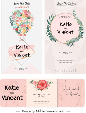 wedding card templates classic elegant wreath decor