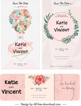 wedding card templates classic elegant wreath decor