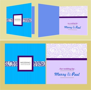 wedding card templates classical pattern design