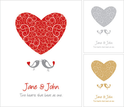 wedding card vector graphic