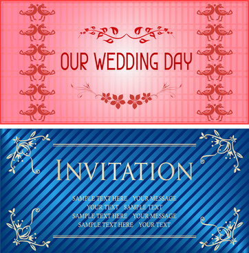 wedding day invitation card