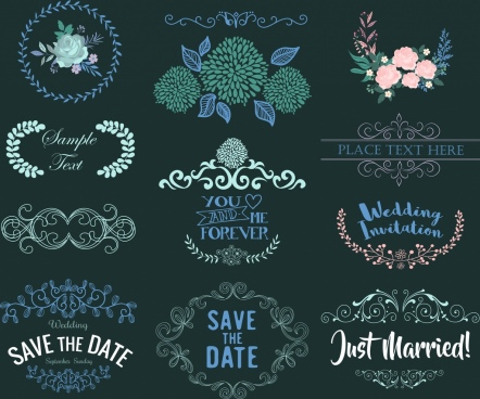 wedding decor design elements classical floral symmetric design