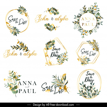 wedding decor elements elegant leaves plants decor