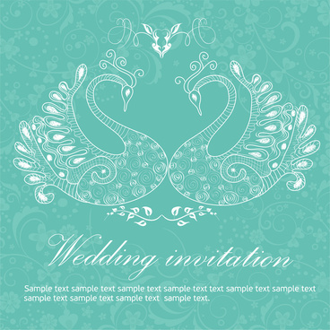 wedding invitation background peacocks