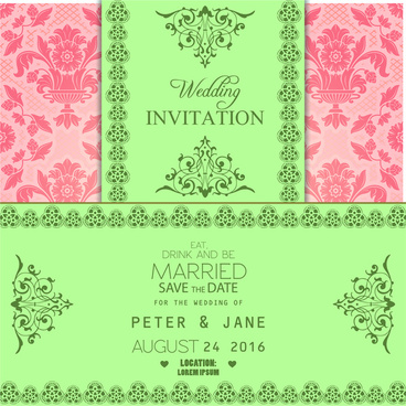 Editable wedding invitations free vector download 3790 free vector wedding invitation card stopboris Choice Image