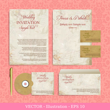 Wedding invitation vector free vector download 2756 free vector wedding invitation card design illustrations with retro background stopboris Gallery