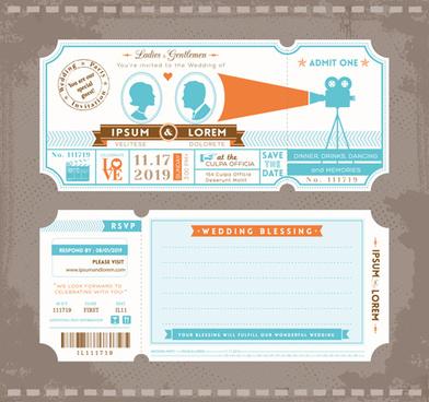 Illustrator Ticket Template Free Vector Download 230 345