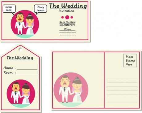 wedding invitation vector design template