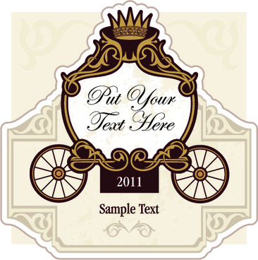 wedding invitation with carriage design vector