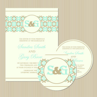 wedding invitation with dvd kit design vector