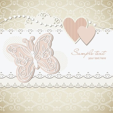 wedding label background 03 vector