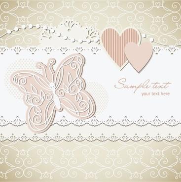 wedding label background 03 vector