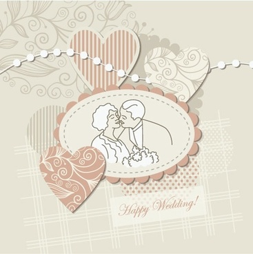 wedding label background 04 vector