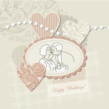 wedding label background 04 vector