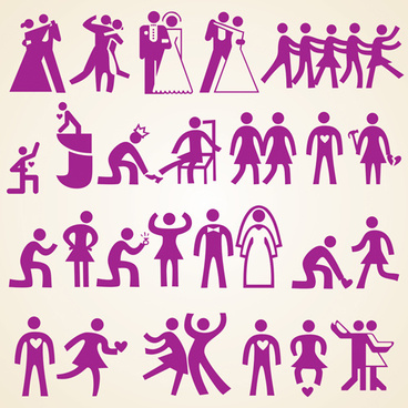 wedding people silhouette design vector