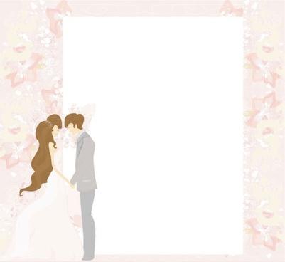 wedding postcards 01 vector