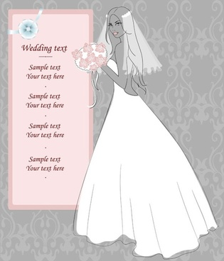 wedding postcards 02 vector