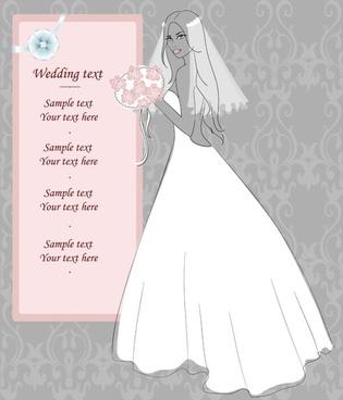 wedding postcards 02 vector
