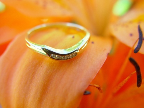 wedding ring ring flower