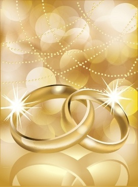 wedding background golden sparkling modern rings bokeh decor