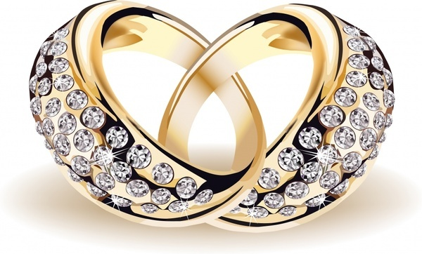 wedding rings icon sparkling diamond decor luxury 3d