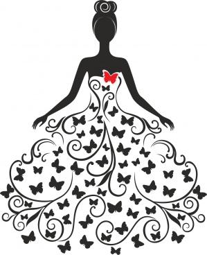 wedding silhouette free cdr vectors art