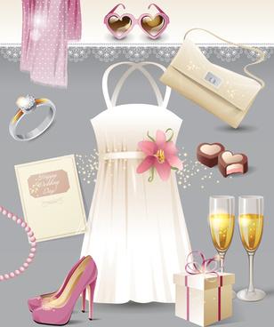 wedding supplies vector