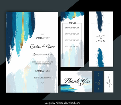 wedding templates abstract grunge painted decor
