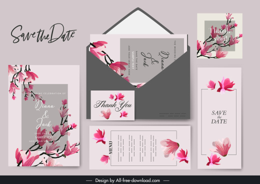 wedding templates classic elegant blooming sakura decor