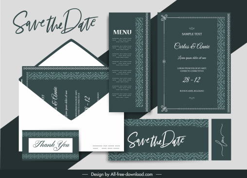 wedding templates dark luxury elegant classic border decor