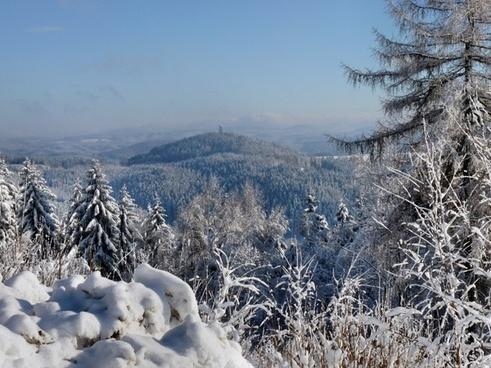 weifen mountain tower winter wintry