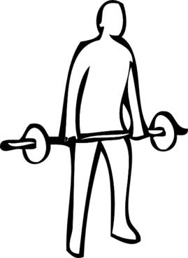 Weight Lifting clip art
