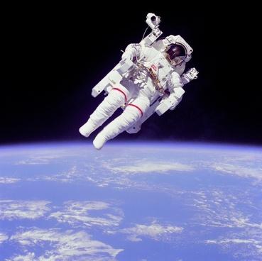 weightless float astronaut