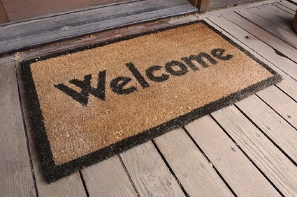 welcome carpet picture
