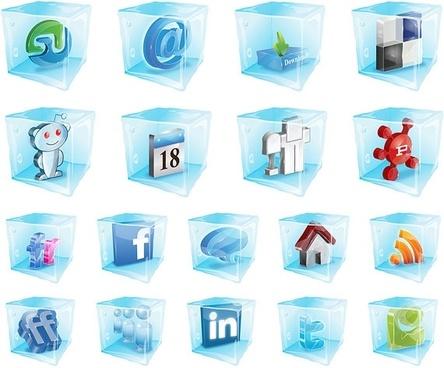 were frozen web20 icon vector