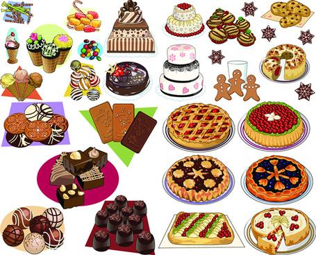 western dessert cake vector