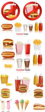 western fast food vector