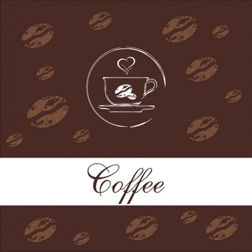 coffee background dark brown retro handdrawn grunge decor
