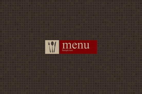 menu cover template elegant dark flat pixel decor