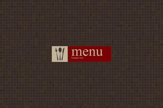 menu cover template elegant dark flat pixel decor